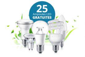 25 ampoules led gratuites