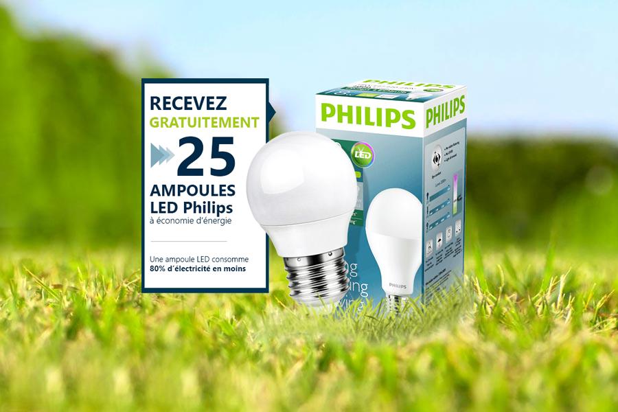Ampoules LED Philips Gratuites