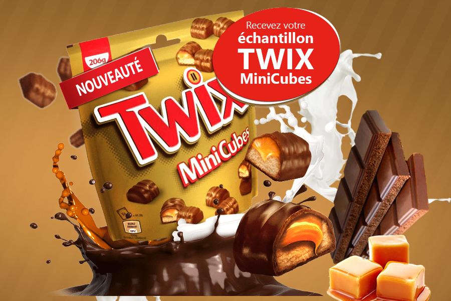 Echantillon gratuit Twix Minicube