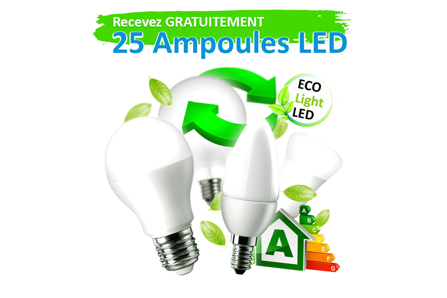 25 ampoules LED Eco light Gratuites