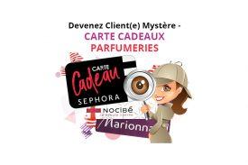Client Mystère, carte cadeaux parfumerie