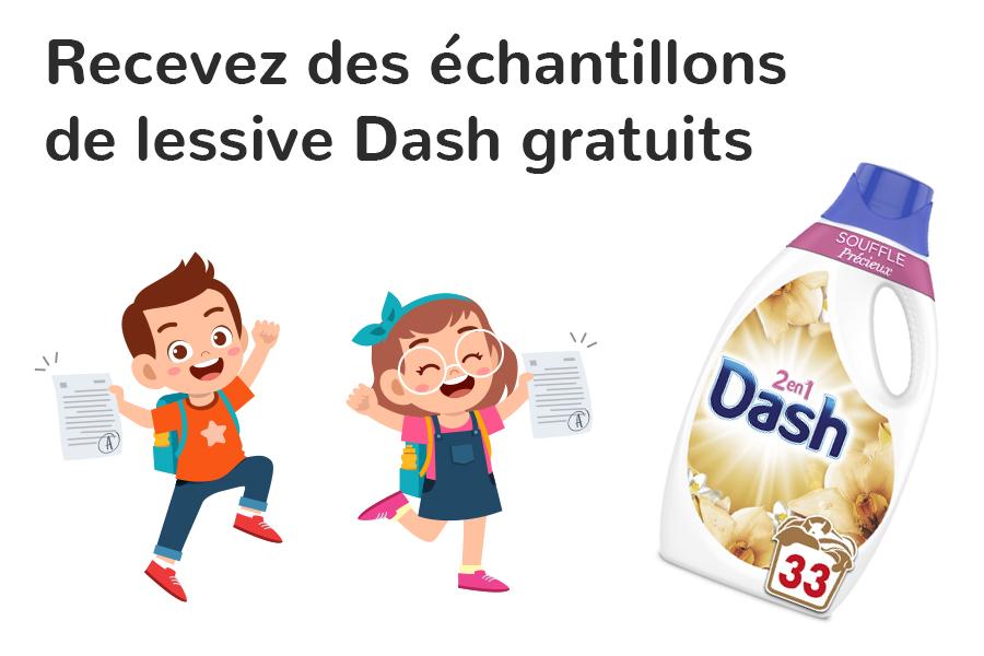 Echantillon Lessive Dash